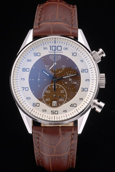 Tag Heuer Mikrograph Limited Edition Brown Leather Strap 7916