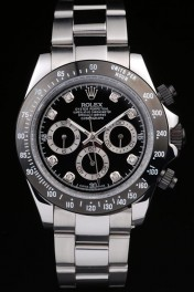 Rolex Daytona Stainless Steel Black Enameled Black Dial