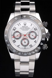 Rolex Daytona Stainless Steel Black Enameled Silver Dial