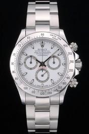 Swiss Rolex Daytona Stainless Steel Bracelet White Dial 80297