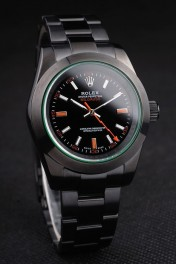 Rolex Milgauss Pro-Hunter Tinted Green Saphire Black Dial