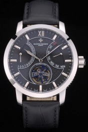 Vacheron Constantin Luxury Leather Replica Relojes 80229