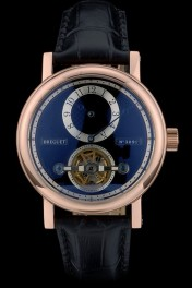 Breguet Classique Complications Rose Gold Case Black Leather Strap 80155