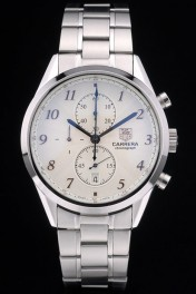 Tag Heuer Carrera Stainless Steel Strap White  Dial 7925