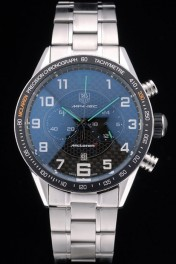 Tag Heuer Carrera McLaren Black Ceramic Bezel Stainless Steel Strap 7920