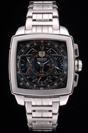 Tag Heuer Monaco Mikrograph Stainless Steel Strap Black Dial 7922