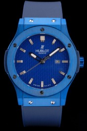 Hublot Big Bang Blue Rubber Strap Blue Checkered Dial 80198