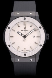Hublot Big Bang Black Rubber Strap White Checkered Dial 80201