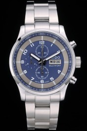 Mido Multifort Stainless Steel Bezel Navy Dial 80282