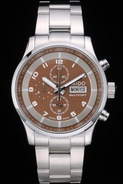 Mido Multifort Stainless Steel Bezel Brown Dial 80283