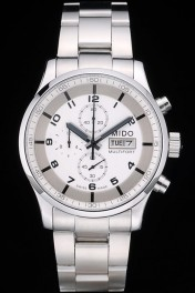 Mido Multifort Stainless Steel Bezel White Dial 80284