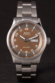 Mido Multifort Stainless Steel Strap Gold Dial 80292
