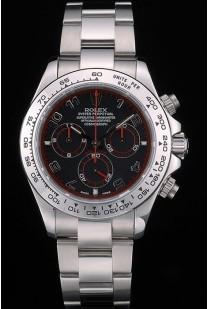 Swiss Rolex Daytona Stainless Steel Bracelet Black Dial 80296