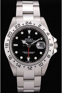Rolex Explorer Stainless Steel Tachymeter Black Dial