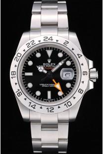 Rolex Explorer Stainless Steel Bezel Black Dial  Tachymeter