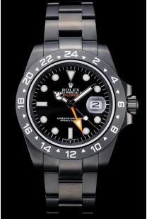 Rolex Explorer Black Ceramic Bezel Black Dial Tachymeter
