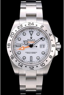 Rolex Swiss Explorer Stainless Steel Bezel White Dial Tachymeter