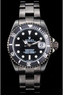Rolex Submariner Wide Lady Black Bezel Black Dial Tachymeter