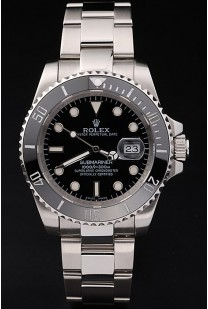 Rolex Submariner Black Ceramic Tachymeter Black Dial
