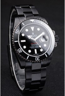 Rolex Swiss Submariner Pro-Hunter Black Steel Strap Black Dial