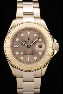 Rolex Yacht Master Gold Tachymeter Gold Dial