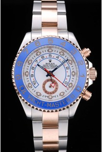 Rolex Yachtmaster Blue Ceramic Bezel White Dial Tachymeter