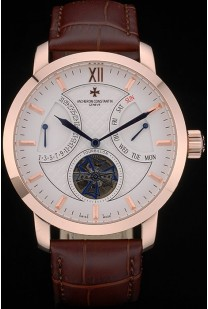 Vacheron Constantin Luxury Leather Replica Relojes 80226