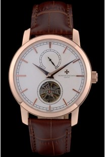 Vacheron Constantin Luxury Leather Replica Relojes 80166