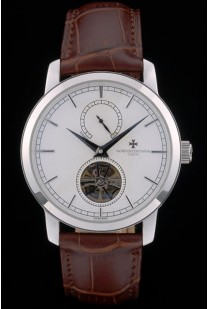 Vacheron Constantin Luxury Leather Replica Relojes 80169