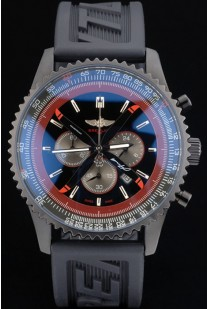 Breitling Certifie Black Rubber Strap Black Dial Chronograph 80180