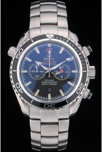 Omega Seamaster Planet Ocean Black Tachymeter Black Dial Stainless Steel Strap 80240