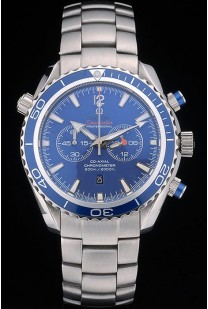 Omega Seamaster Planet Ocean Blue Tachymeter Blue Dial Stainless Steel Strap 80239